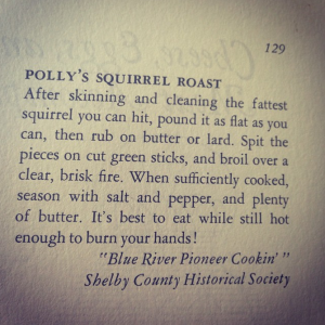Polly's Squirrel Roast