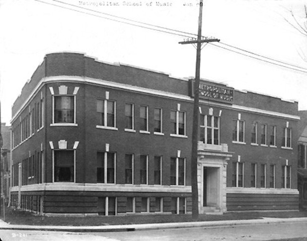 In 1907, the Metropolitan School of Music erected its own building at 106 E. North Street (photo courtesy of )