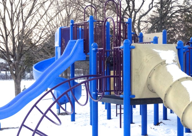 One of Ellenberger Park's two playgrounds