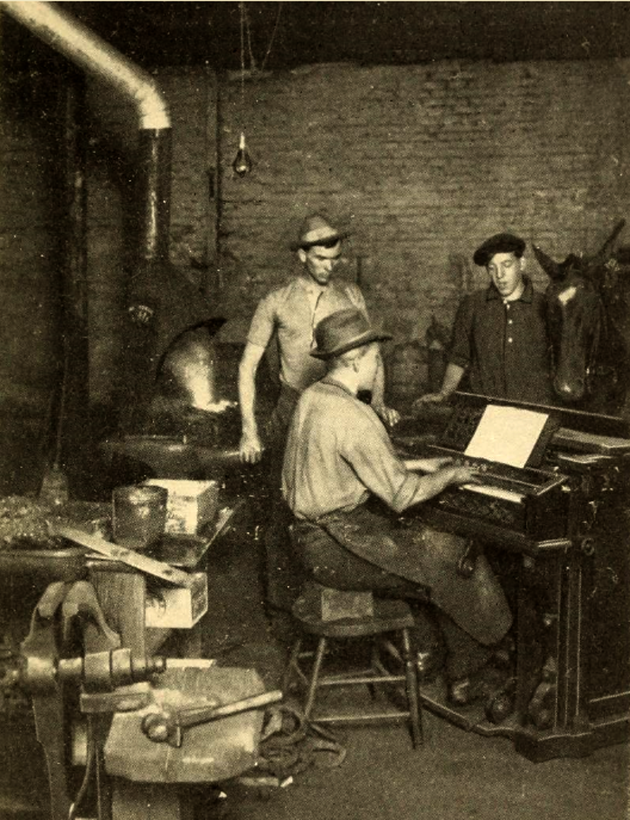Indianapolis Then and Now: The Singing Blacksmiths at 110 W. Georgia Street
