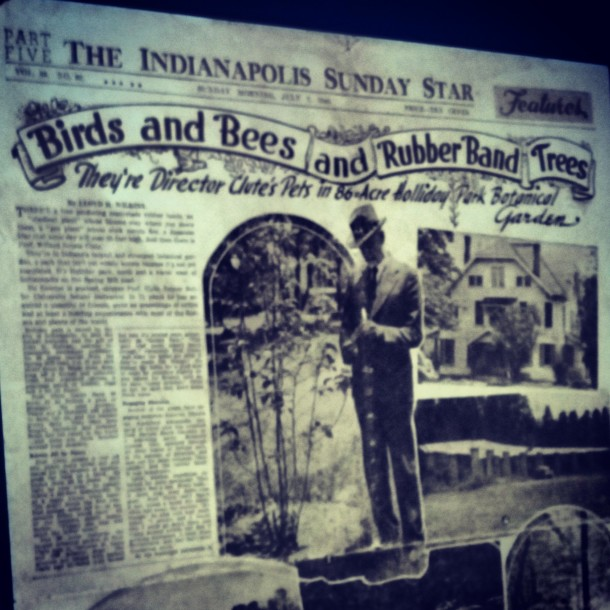 The Indianapolis Sunday Star announcing the Holliday's donation to the city of Indianapolis