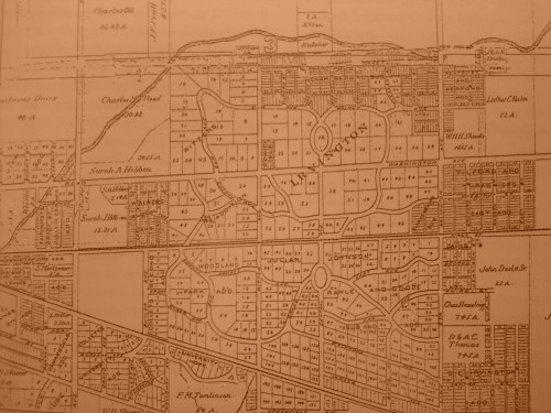 A map of Irvington.  Ellenberger Park is on the north side of the map.