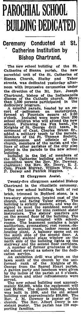 September 24, 1922, article i The Indianapolis Star (scan courtesy of Indianapolis Public Library)