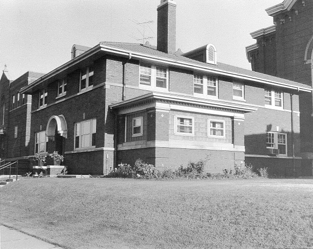 In 1926, a new brick rectory replaced the smaller frame house that had been moved to the lot in 1914 (photo courtesy of Archdiocese of Indianapolis)