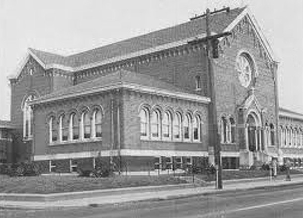 St. Catherine of Siena Church as it appeared soon after construction (photo courtesy of the Archdioces of Indianapolis)