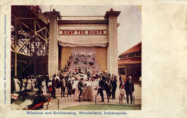 The Bump-the-Bumps ride at Wonderland Amusement Park