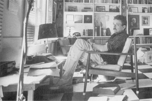 Kurt Vonnegut in his Barnstable, Massachusetts, study in 1969 (Getty Images)
