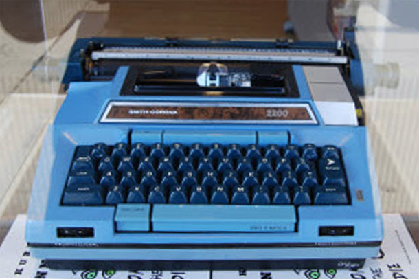 Electric typewriter on which Kurt composed many of his books, short stories and essays is on display at the Kurt Vonnegut Memorial Library in downtown Indianapolis (photo courtesy of FunCityFinder.com)