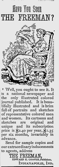 Sunday Adverts: The Freeman Newspaper