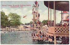 The diving tower at Riverside Amusement Park