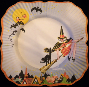 A Beach & Arthur Halloween paper plate from the 1930s (image courtesy of sexywitch.wordpress.com2011)
