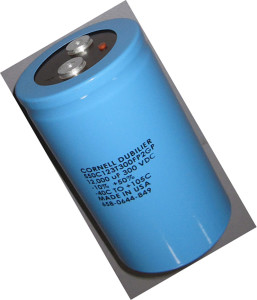 Cornell-Dubilier inverter grade electrolytic capacitor (image courtesy of the electrostore.com)