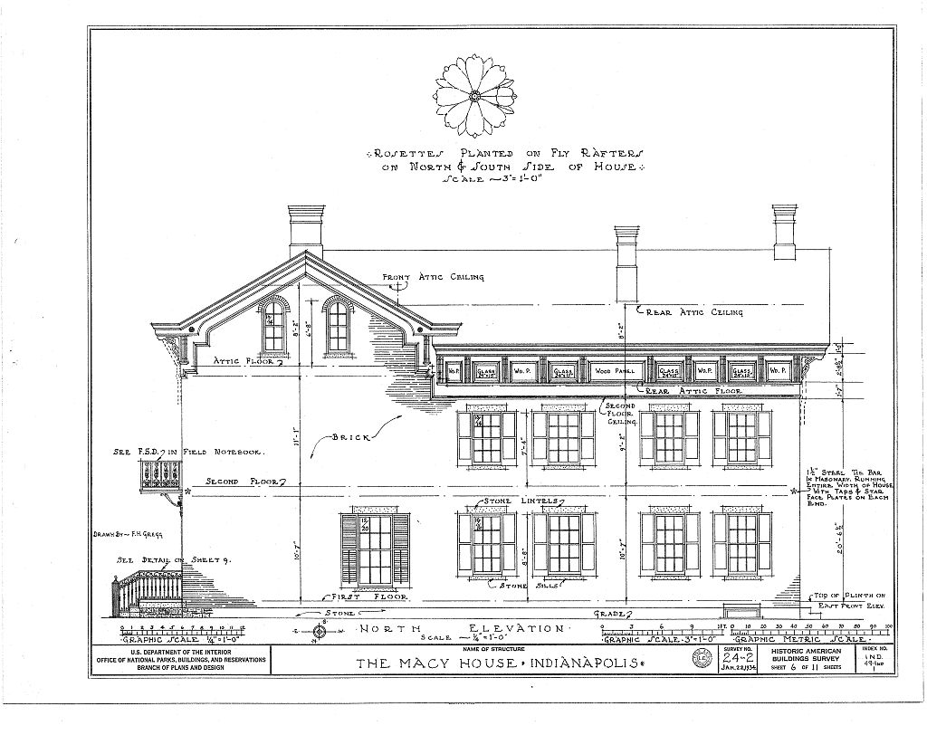 Historic Home Elevation : Indianapolis then and now david macy house n