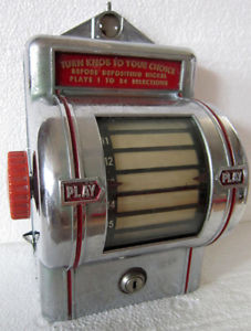 1930s model of the Play-Mor wall box