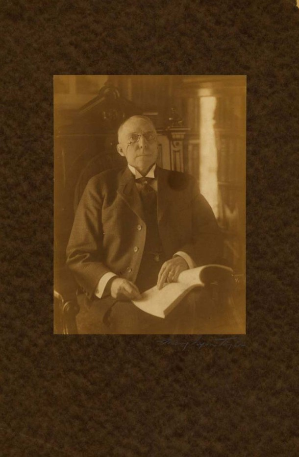 James Whitcomb Riley as photographed by Mary Lyon Taylor (Courtesy of the James Whitcomb Riley Home Museum/IUPUI University Library)