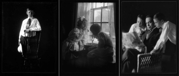 Prints from glass negatives made by photographer Mary Lyon Taylor (Indiana Historical Society, Mary Lyon Taylor Collection)