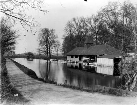 The boathouse at Fairview Park. Photo courtesy of the Indiana Historical Society Digital archives.