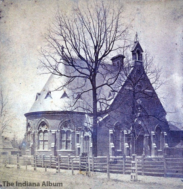Half of a stereoview of Fourth Presbyterian Church. Photographed by Charles S. Judd, Indianapolis, ca. 1875 (The Indiana Album: Loaned by Joan Hostetler)