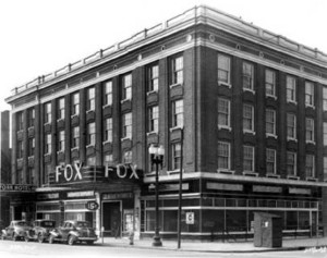 "This photo shows The Fox Theater in 1938. The hotel fronting the building is named ""The York."" (Photo: courtesy Bass Photo Co Collection, Indiana Historical Society)"