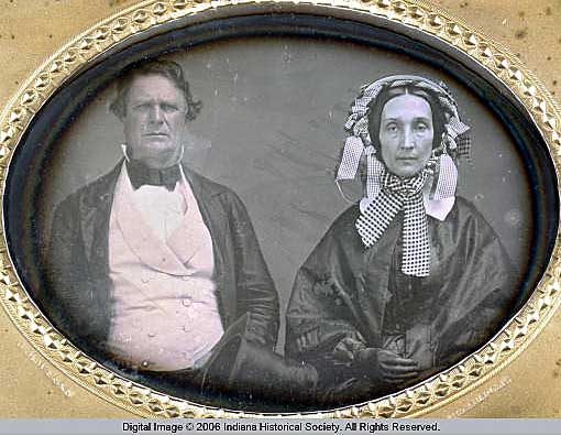 Indianapolis Then and Now: College Hall and the Daguerreotype of Mr. and Mrs. Calvin Fletcher