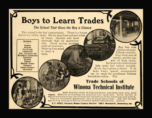 Winona Technical Institute Ad 1907 large