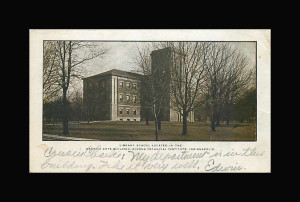 Winona Technical Institute Arsenal Library School postcard