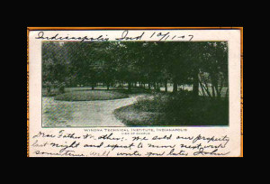 Winona Technical Institute Campus View postcard 1907