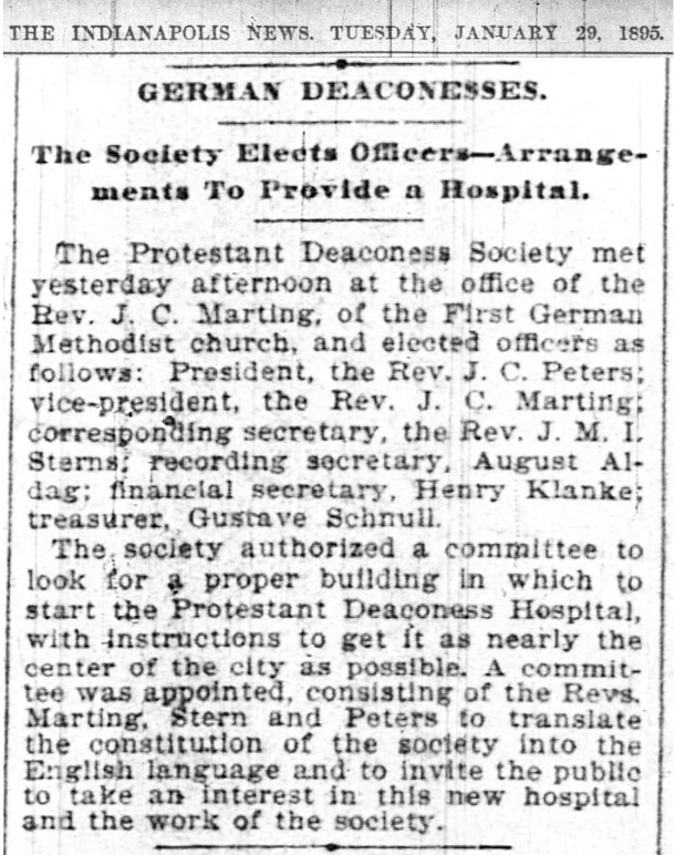 Plans to provide a hospital made (scan courtesy of newspapers.com)