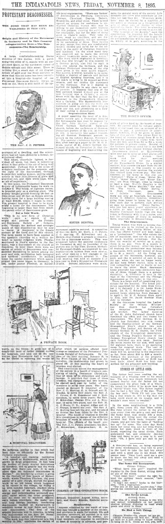 1895 Indianapolis News article explains the deaconess philosophy (scan courtesy of newspapers.com)