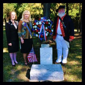 John Mitchell Ceremony State Historian Vicki Voris, State Regent Jeanie Hournug, SAR2