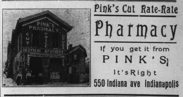 Sunday Adverts: Pink's Pharmacy
