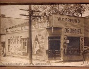 Another view of Freund Pharmacy from about 1900 to 1910. (The Indiana Album: Loaned by Joan Hostetler)