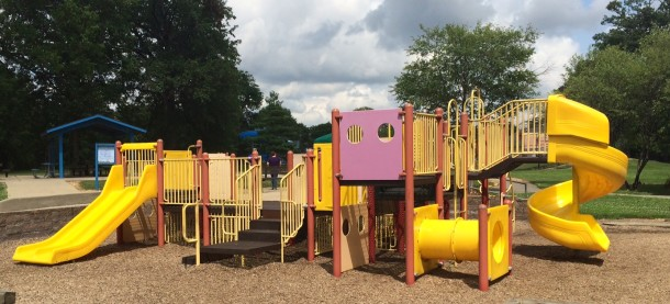 One of Brookside Park's play structures