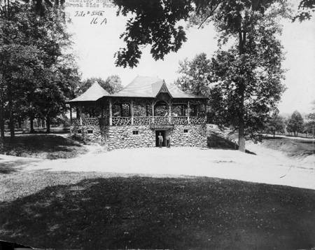 A shelter house from Brookside Park's early days
