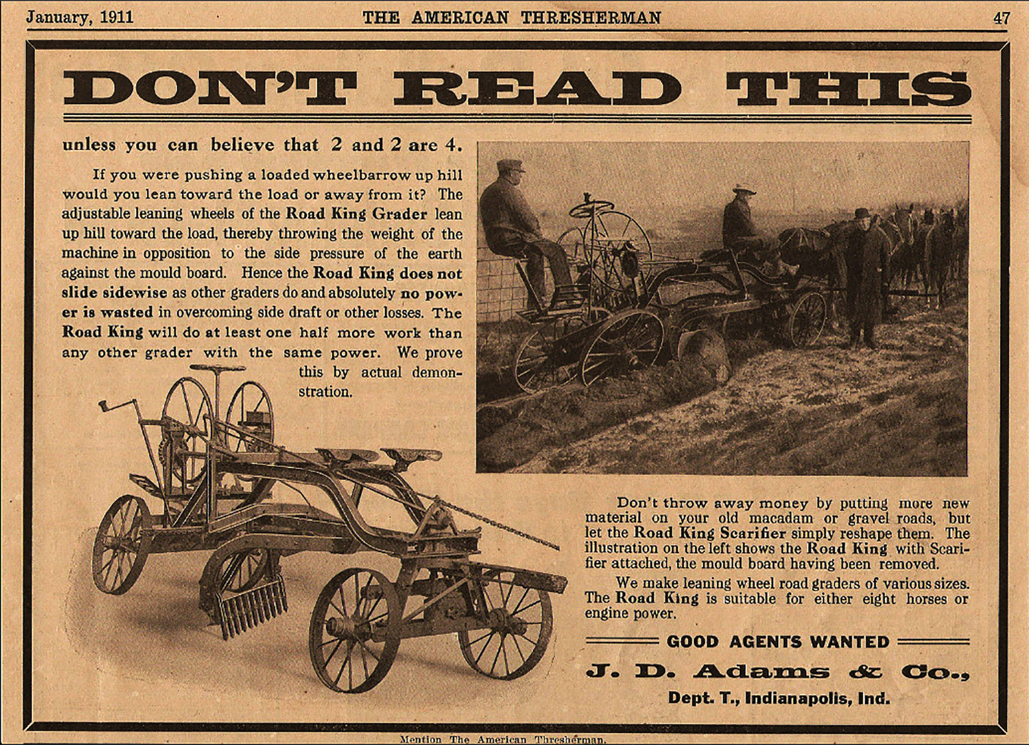 Sunday Adverts: Don't Read This