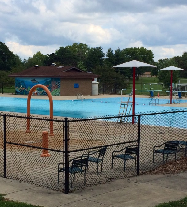 The pool at Douglass Park features a diving well and a wading area.