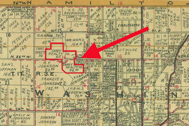 1931 Wagner map indicates the Carey land extended both north and south of West 86th Street