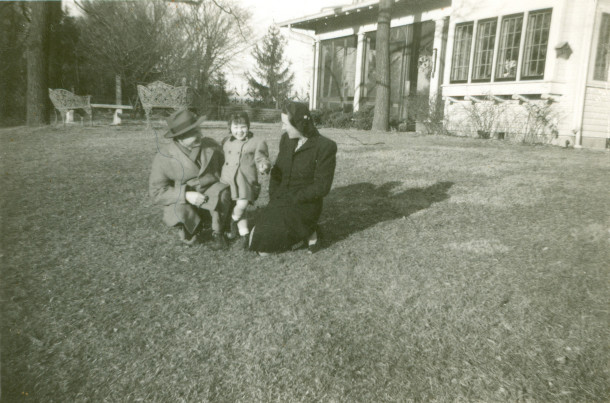 Another late 1930s or early 1940s photo taken at Haverway Farm when the Haineses lived there (photo from the personal collection of Ruth Carey Adams Linsmith)