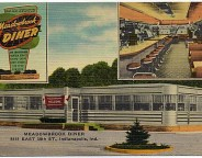 Undated linen postcard of the Meadowbrook Diner (The Indiana Album: Loaned by Joan Hostetler)