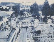 A panorama from atop the boat ride (courtesy Indiana State Library)