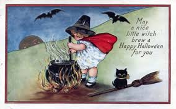 1914 Halloween postcard (image courtesy of ebay)