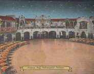 """This 1943 postmarked postcard states """"I am dancing at the Indiana Roof, beautiful combination Night Club and Ballroom, where Indianapolis dances every Wednesday, Friday, Saturday and Sunday."""" (courtesy ebay)"""