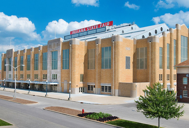 The Coliseum at the Indiana State Fairgrounds was the location of the Music Memory Contest in the early 1960s (photo courtesy of populous.com)