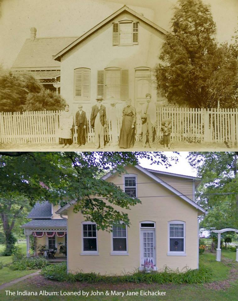 Indianapolis Then and Now: Askren-Rice-Eichacker House, 625 N. Edmondson Avenue