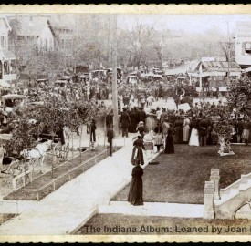 Cabinet card looking south on Alabama Street, 1892. (Courtesy of the Indiana Album: Loaned by Joan Hostetler)