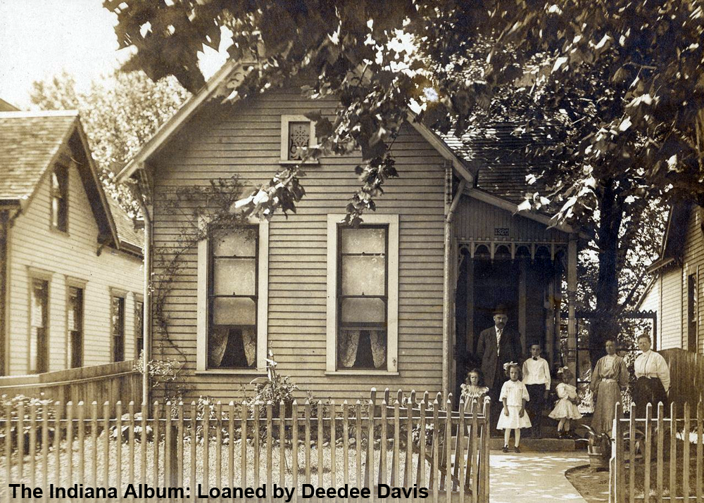 Indianapolis Then and Now: Roehm House, 1320 Villa Street