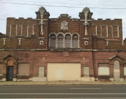 The 1927 Ritz Theatre has stood vacant for decades and begs to be restored  (2014 photo by Sharon Butsch Freeland)