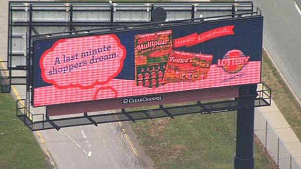 Digital billboard (Photograph courtesy of WTHR, Channel 13)