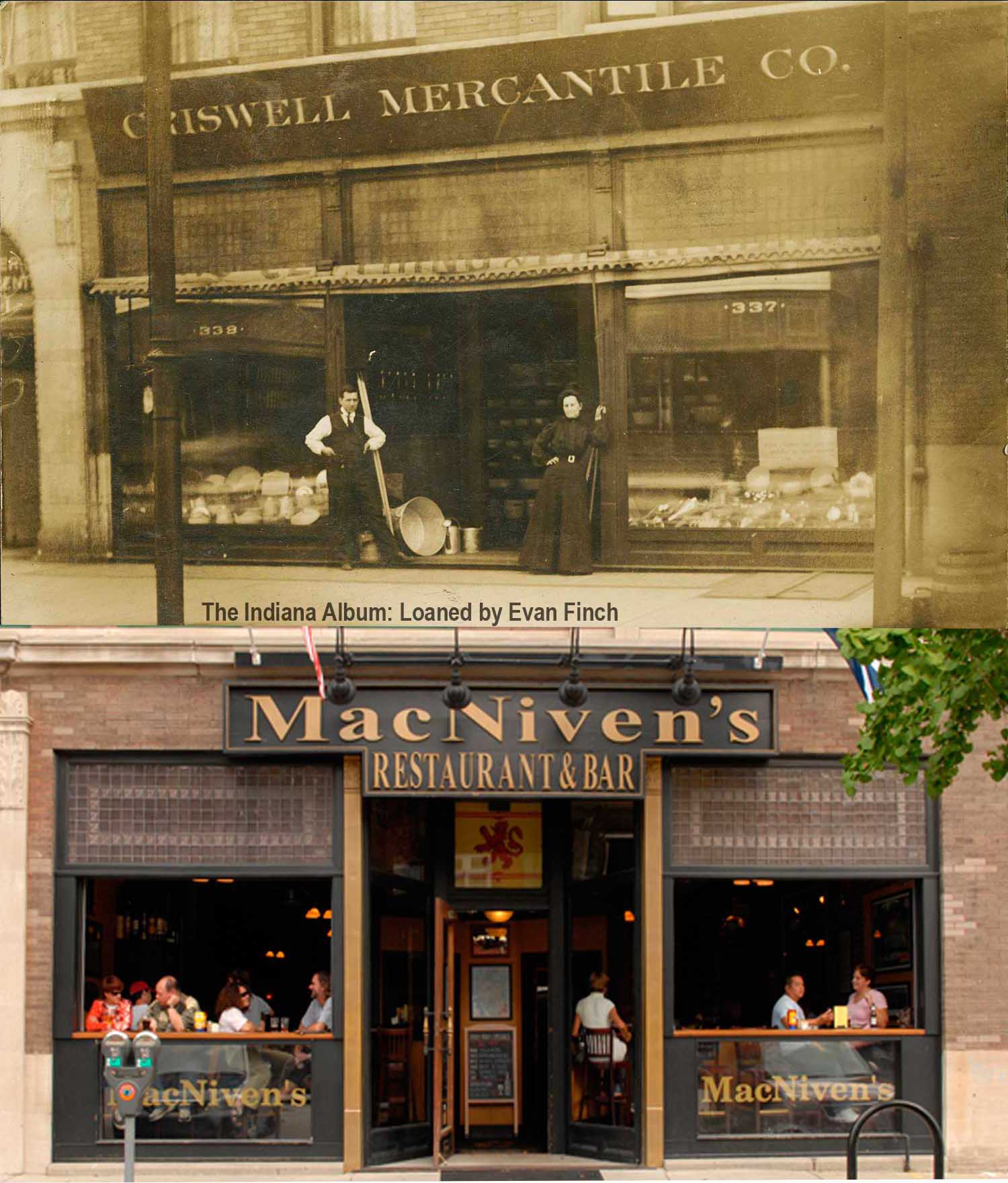 Then & Now: Criswell Mercantile Company/MacNiven's Restaurant & Bar, 337-339 Massachusetts Avenue