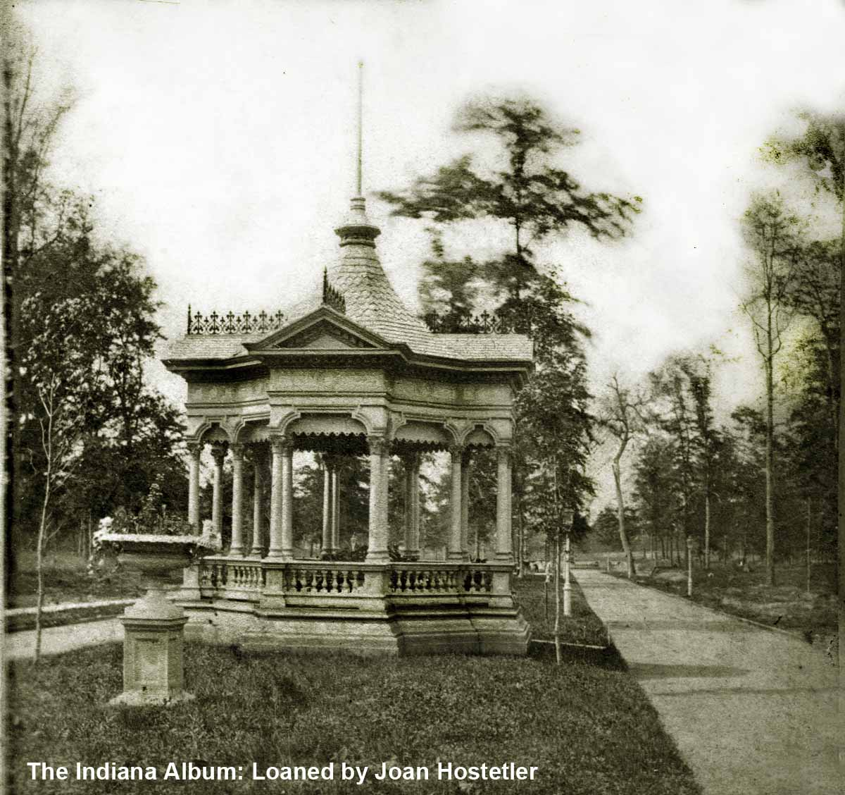 Indianapolis Then and Now: Woodruff Place Gazebo, 800 block West Drive